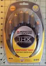 New -Monster standard component VIDEO cables 8FT 2M 15-2446 -New in plastic