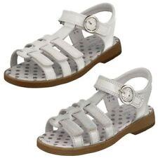 Sandales avec boucle en cuir pour fille de 2 à 16 ans