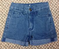 Girls Size 3-4 Years Stone Wash Denim Jeans Shorts Kids Blue Summer Pants