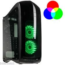 KOLINK PUNISHER RGB MIDI TOWER BLACK ATX GAMING CASE - LED COOLING FANS INCLUDED