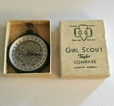 Vintage Girl Scout Taylor Compass In Original Box. Made In America