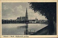 Schwerin Mecklenburg AK ~1930 Pfaffenteich Dom St. Marien St. Johannis Kirche