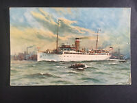 1934 Germany Pciture Postcard Cover Schnell Dampfer Cobra Ship