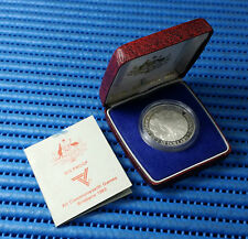1982 Australia $10 Brisbane XII Commonwealth Games Silver Proof Coin