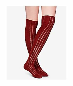Free People Womens Pointelle Over The Knee Midweight Socks, Brown, One Size