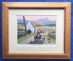 Original Irish Art Ltd Ed Print Sheep Picture Form-ewe-la One By Thomas Joseph