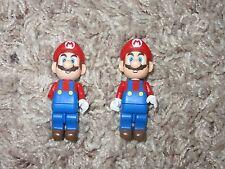 Lot of 2 K'Nex Super Mario Bros Brothers MiniFigure Mario Minifigs