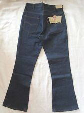 LEVIS Orange Tab FLARE Men's 34 X 33 Dark Blue Denim Jeans Vintage NOS
