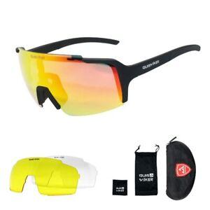 Cycling Sunglasses for Men Woman 100 % Bike Goggles Lens Man 6pcs Set 158mm*58m