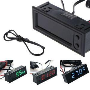 Multifunction Car Clock Temperature Battery r Voltmeter Tool Replaces -35 ~ 120