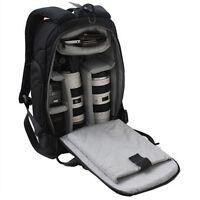 Photographers DSLR Camera Travel Backpack Rucksack Bag Case For Canon Sony Nikon
