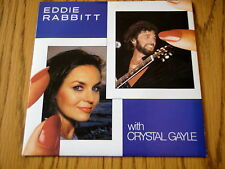"EDDIE RABBITT & CRYSTAL GALE - YOU AND I    7"" VINYL PS"