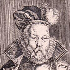 Portrait XVIIIe Tycho Brahe Astronomie Astronomy Suède Браге Тихо 1755