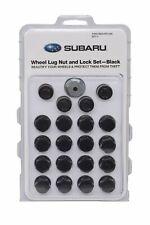 Genuine Subaru Wheel Lug Nut & Lock set BLACK B321SFL020 OEM All Models Aluminum