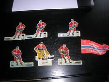 Vintage Eagle Toys Metal Table Hockey Players & Flag MONTREAL CANADIANS  1954