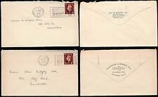 GB KG6 1938 MIDGLEY SOAPS..COMMERCIAL ENVS CLEGHORN + DIX...GLASGOW EXPO SLOGANS