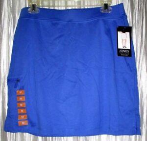 New  *JONES NEW YORK*  Sport Cotton Caspian Blue Tennis/Golf Skort,  Med