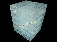 10x 18650/16340 / CR123A Batería Blanca caso titular caja de almacenamiento