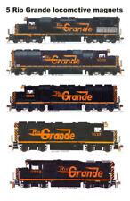 Rio Grande Speed Lettered Locomotives set of 5 magnets Andy Fletcher