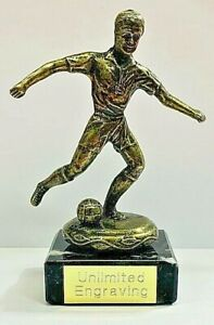 Football Trophy Metal Antique Gold Player + FREE ENGRAVING and P&P