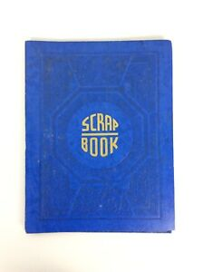 Scrapbook Blue Embossed Cardboard Cover 20 Blank Pages Expandable Vintage