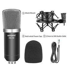 Neewer NW-700 Condenser Microphone with Shock Mount and  Anti-wind Foam Cap