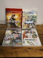PS3 GAME LOT SNIPER GHOST WARRIOR/THE SHOOT/PES2013/ FIFA SOCCER 12