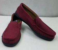 Haband Healthrite Mens Slippers Dark Red Moccasins Indoor Comfort Shoe Size 13D