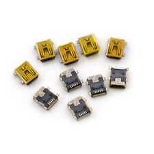 10Pcs Mini USB Type B Female Socket 5 Pin Right Angle DIP Jack Connector 0F
