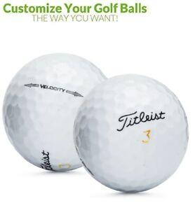 Personalized 1 Dozen Custom Logo or Text Titleist Velocity Mint Golf Balls