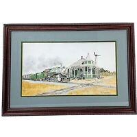 Southern Railway Railroad Art Print Barber Junction NC Signed Betty Sedberry