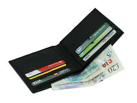 Men's Soft Smooth Real Nappa Leather Bifold Slim Wallet Credit Card Holder 125