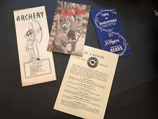 Collection of Vintage Shooting and Archery Pamphlets