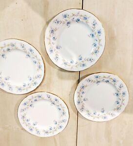 "Vintage Duchess Tranquility, Bone China Dessert /Cake Plates Forget Me Nots 6.5"""