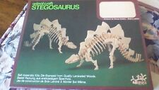 WOODEN ANIMAL CRAFT STEGOSAURUS