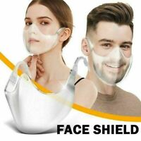 NEW Durable Mask Face Shield Combine Plastic Reusable Clear Face Mask US
