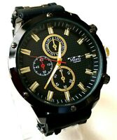 Mens Fashion Watch Milano MC47011, Black Silicone Bullet Band Water Resistant
