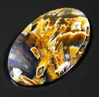 29 Ct Natural Turkey Pseudomorph  Stick Agate Oval Cabochon Ankara Gemstone A149