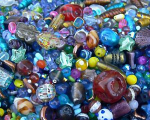 WHOLESALE LOT Glass Beads 1 Pound for Suncatcher Waist Bead Projects