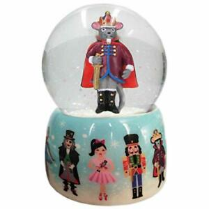 Musical Mouse King and Nutcracker Snow Globe Ceramic 65mm