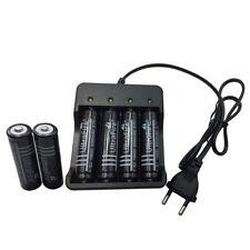 6x 18650 3.7V 6000mAh Li-ion Rechargeable Battery with 4 Slots EU Plug Charger
