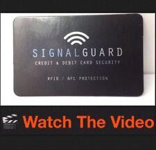Signal Guard RFID Wireless Crédit Débit Carte illégales bloqueur de mettre en portefeuille Purse