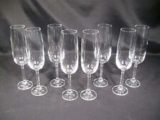 Bohemia Crystal Isabelle Champagne Flutes Set of 8