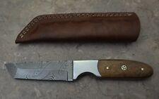 Custom Made Damascus Steel Hunting Tanto Knife with Walnut Wood Handle(UHK 406W)