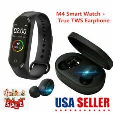 Airdot Wireless TWS True Headset Bluetooth 5.0 Earphone+M4 Bluetooth Smart Watch