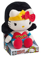 "HELLO KITTY x DC Comics WONDER WOMAN 10.5"" Plush JEMINI Sanrio FRENCH Exclusive"