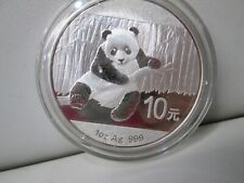 2014 Chinese Panda .999 Silver 10Y 1 Ounce Coin