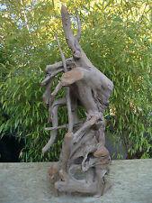 Teak Wurzelholz Skulptur Asia Garten Romantik Natur Blickfang Bali Indonesien
