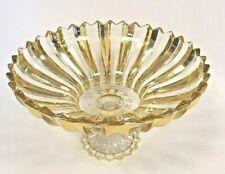 EXQUISITE Glass 30 CM GOLD DESIGN Large Bowl - Fruit & Salad Bowl CENTERPIECE