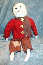 """Primitive Fabric 24"""" Large Snowman"""